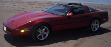 1987 Chevrolet Corvette - With highly polished 2006 Corvette Aluminum wheels.