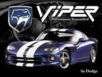 Dodge Viper GTS Performance Personified promotional ad