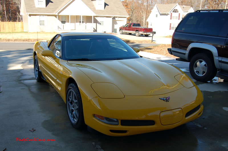2002 Millennium Yellow Z06 Corvette - 405 HP Stock, at new home in Cleveland, Tennessee