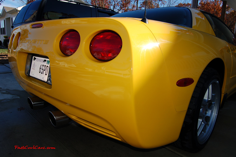 2002 Millennium Yellow Z06 Corvette - 405 HP Stock, at new home in Cleveland, Tennessee, nice right rear angle view
