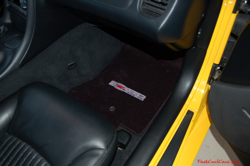 2002 Millennium Yellow Z06 Corvette - 405 HP Stock, at new home in Cleveland, Tennessee, with new Lloyds floor mat