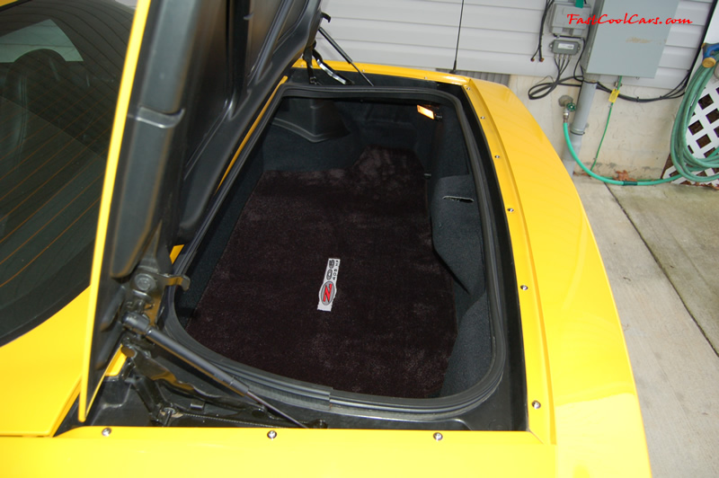 2002 Millennium Yellow Z06 Corvette - 405 HP Stock, at new home in Cleveland, Tennessee, with new chrome screws replacing the original black ones.