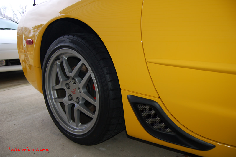 2002 Millennium Yellow Z06 Corvette - 405 HP Stock, at new home in Cleveland, Tennessee, picture of functional rear brake ducts
