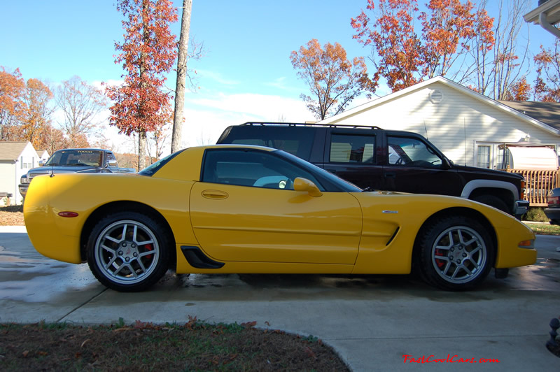 2002 Millennium Yellow Z06 Corvette - 405 HP Stock, nice side view
