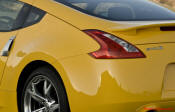The new car's name, 370Z, signifies the enlargement of the V6 engine's capacity to 3.7 liters. In this form it produces 326bhp