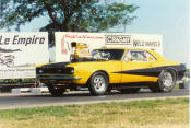 Best Et-8.18 - Best Mph-170 - car weighs-3345, with driver - did the longest wheelie in super Chevy history, 367 feet from the starting line ! the Camaro was the first 3200 lb car to go in the 9s, also the first 3200lb car to go in the 8s.