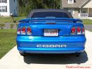 1998 Mustang Cobra Convertible - 1 of 223 - Electric blue, with new stainless cobra letters.