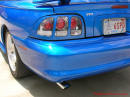 1998 Mustang Cobra Convertible - 1 of 223 - Electric blue, with chrome tail lights