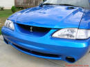 1998 Mustang Cobra Convertible - 1 of 223 - Electric blue, with new Cobra front grill insert.
