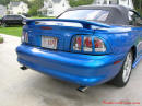 1998 Mustang Cobra Convertible - 1 of 223 - Electric blue, with new Steeda decal for lowering kit.