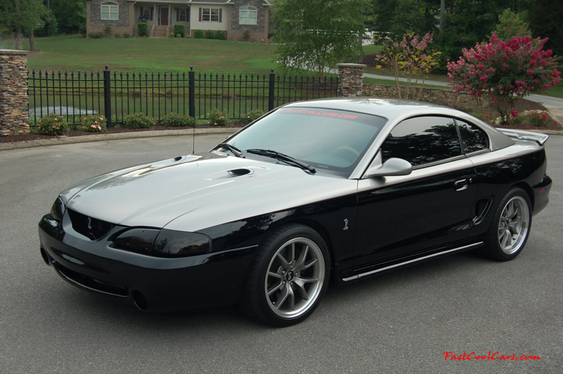 "1998 polished Procharged Mustang Cobra, Custom paint,18"" - FR500's"