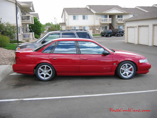 1995 Ford Taurus SHO - very cool sport luxury sedan - fastcoolcars.com - Recently lowered here
