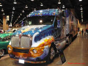 Dale Ison's Hero Truck - A rolling work of Art.