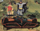 The Original Batmobile from the series in 1966-68 TV series saying Hi