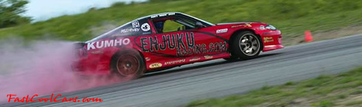 The new Kumho red smoking tires, made especially for drifting. Kumho Ecsta MX-C tires. Great for Fast Cool Cars for sure.