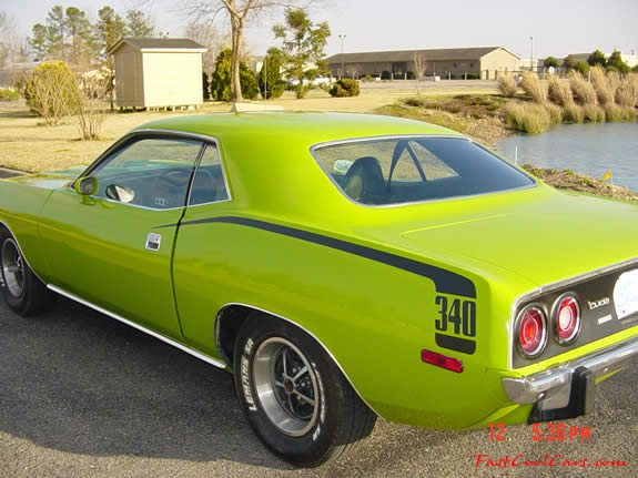 1973 Plymouth Barracuda - 340 Cuda nice green