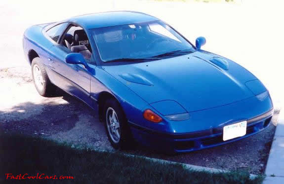 1991 Dodge Stealth blue in color