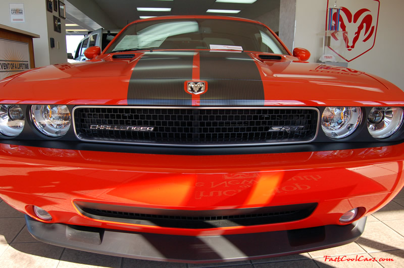 2009 Dodge Challenger SRT8 - 6.1 Hemi with 425HP, and this one is a 6 speed Great looking front end.