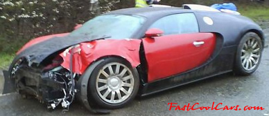 Bugatti has a bad day.... accident, hello insurance.