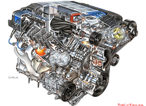 2009 Chevrolet LS9 is a 6.2 L (6,162 cc/376.0 cu in) supercharged engine