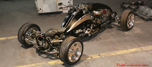 The Brimstone Quadracycle, the worlds first Hot Rod Quad.