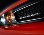 New Dodge Challenger, 6.1 V8 Hemi, 425 crank horsepower, 420 crank foot pounds of torque.