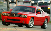 New Dodge Challenger, 6.1 V8 Hemi, 425 crank horsepower, 420 crank foot pounds of torque. SRT8, great looking stance.
