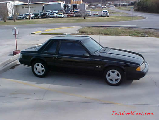 Right above picture of 1991 LX Mustang coupe, 5.0 - 5 speed