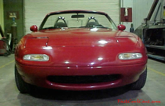 1990 Mazda Miata Roadster front view with the top down