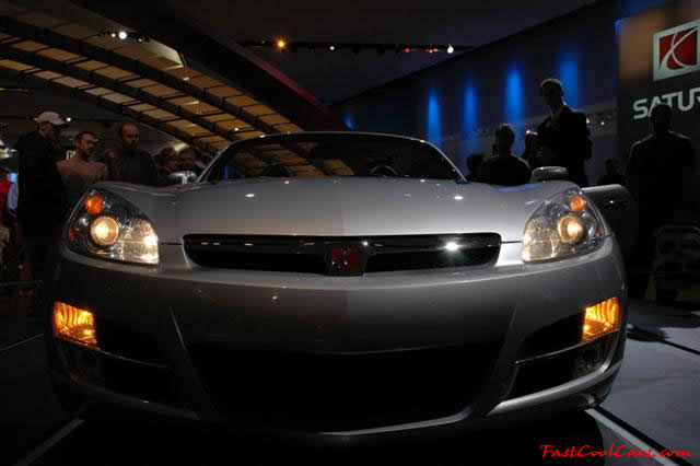 A Red Line model of the Sky was introduced on April 11, 2006 at the New York Auto Show. It uses the same 260 hp (194 kW) turbocharged Ecotec engine as the Solstice GXP, as well as the same standard 5-speed Aisin manual transmission. An automatic transmission is optional.
