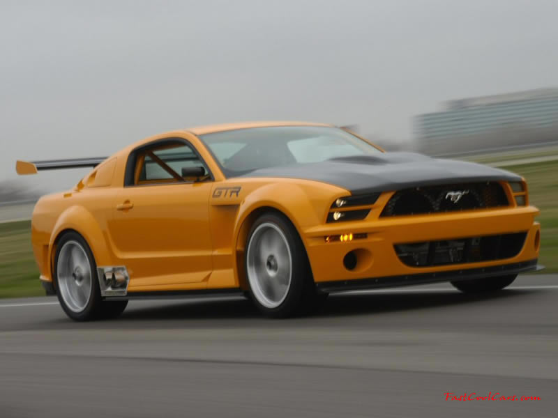 GTR Mustang burning up the roads