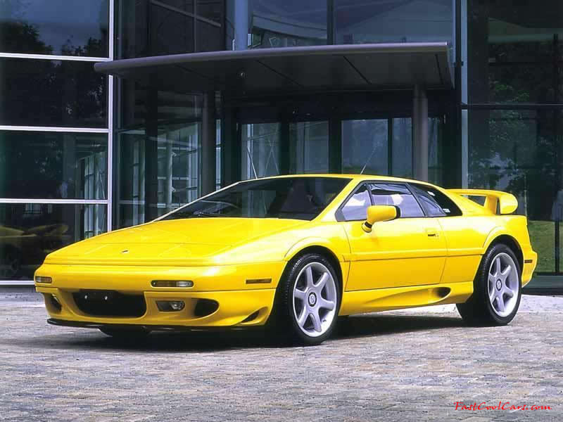 Lotus Esprit Cool Yellow paint job