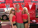 Me, Ron Landry and two sexy models, brought to you from the Kuhmo tire company.