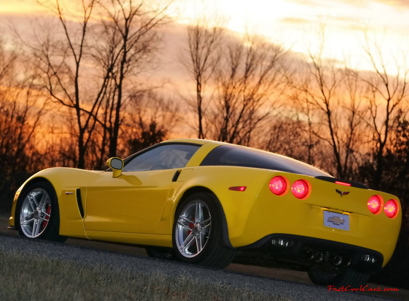 2006 Chevrolet Corvette ZO6, nice bright yellow
