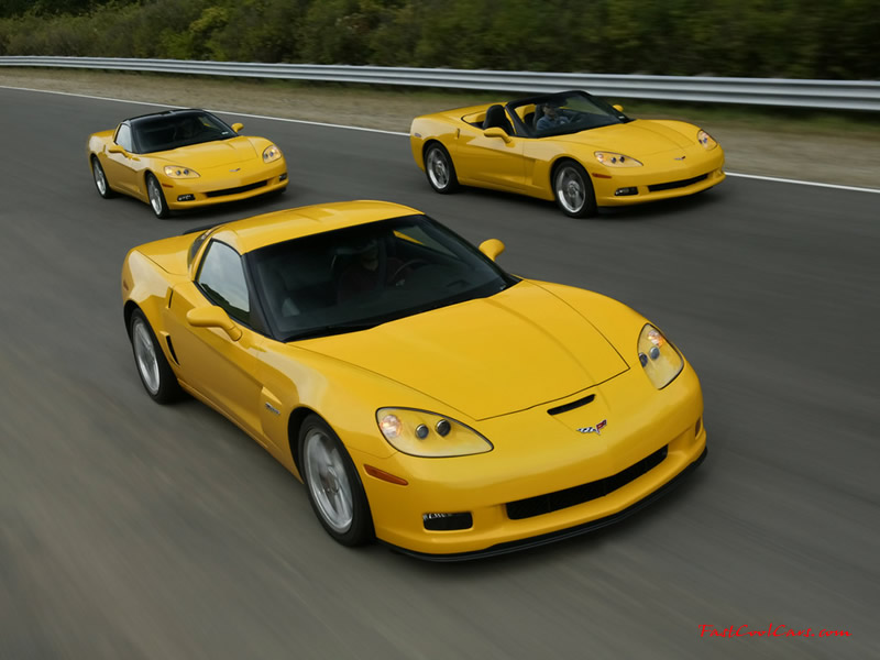 2006 Chevrolet Corvette ZO6, nice bright yellow, a coupe, convetible, and hardtop