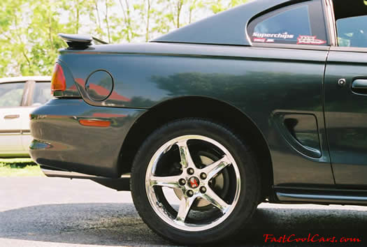 "1998 Mustang GT - FordMotorSports 17' chrome Cobra ""R"" wheels - fastcoolcars.com"